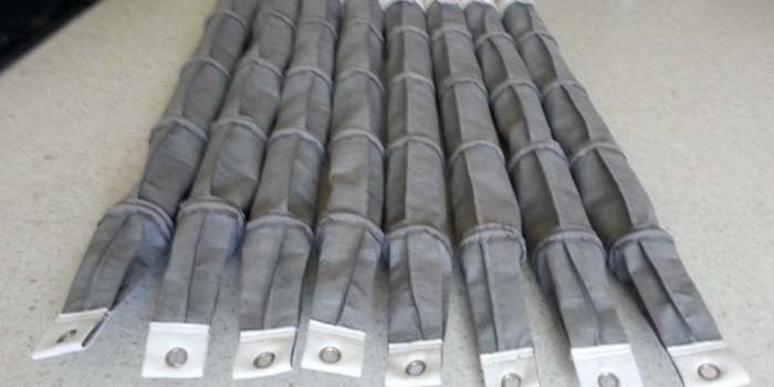 Mangas cilíndricas con aros intermedios