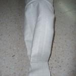 Manga cilíndrica con aros intermedios y extremos con doblez para poner gancho
